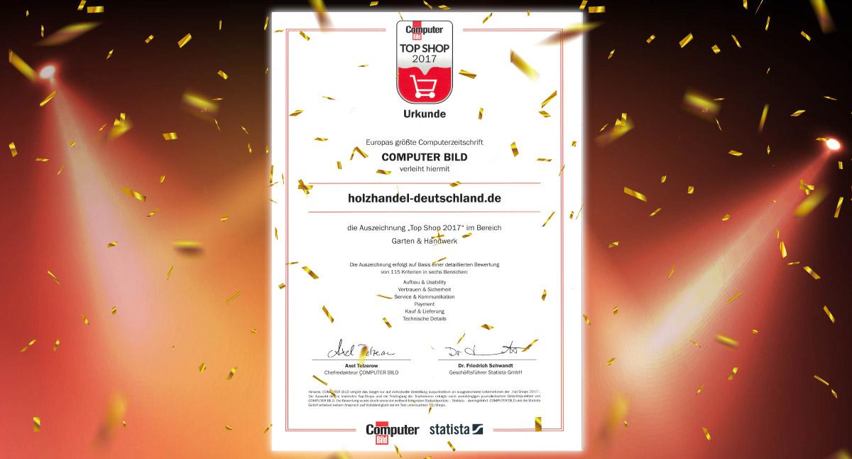 Auszeichnung Top Shop 2017 Erhalten Kahrs Gmbh